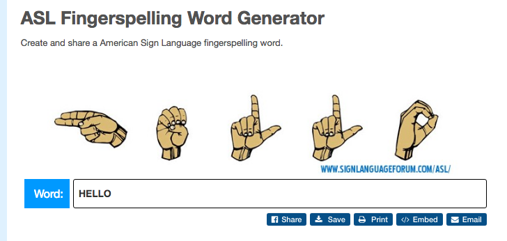 picture relating to Printable Sign Language Alphabet referred to as ASL Fingerspelling Phrase Printer